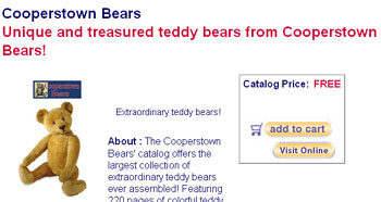 Free Cooperstown Bears Catalog