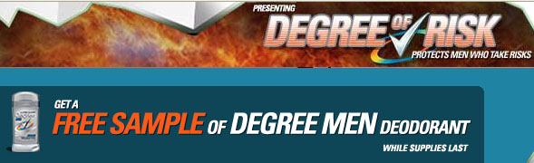 Free Sample of Degree Deodorant For Men