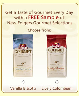 Free Folgers Coffee Sample
