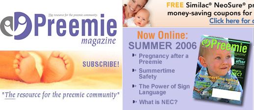 Free 1 Year Subscription to Preemie Magazine