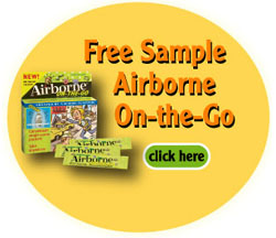 Free sample of Airborne Health on the go