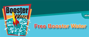 Free bottle of booster water