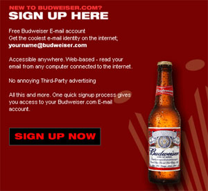 Free Budweiser Email Address!