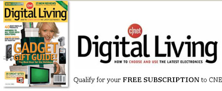Free Subscription to CNET Digital Living Magazine