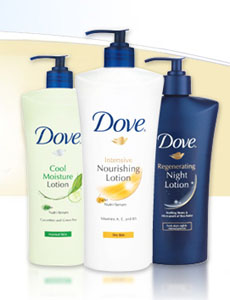 Free sample of Dove® Body Lotion