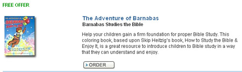 Free Coloring Book 'The Adventures of Barnabas'