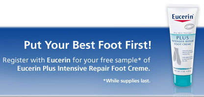 Free eucerin foot repair cream