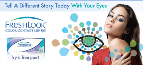 Free FreshLook® ONE-DAY Color Contact Lenses