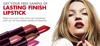 Free sample of Rimmel Lipstick
