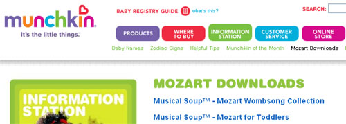 Free Mozart CD Downloads for Baby and Toddlers