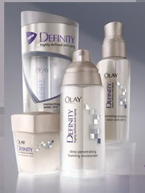 Free sample of Olay Definity