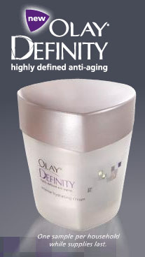 Free Sample of Olay Definity from Target