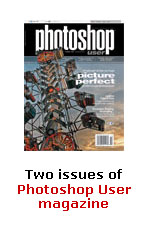 Two issues of Photoshop User magazine