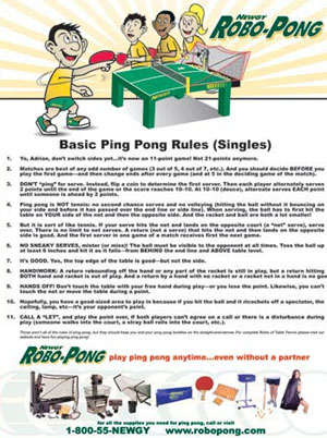 simple table tennis rules