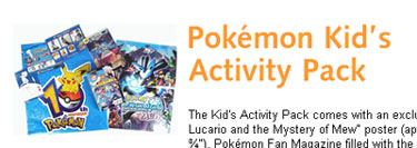 Free Pokémon Kid's Activity Pack from Amtrack Stores