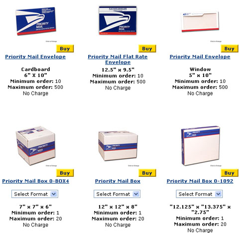 Free Boxes From USPS