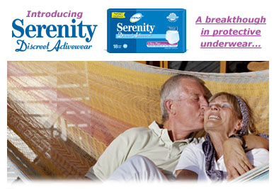 Free sample of Serenity®  Discreet Activewear(™)