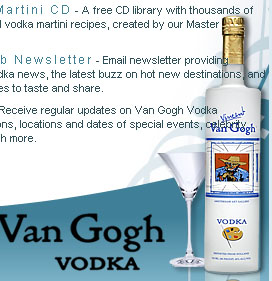 Free Van Gogh Martini Recipe CD