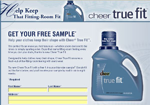 Free Cheer True Fit Sample