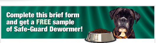 Free sample of Safeguard for dogs Dewormer