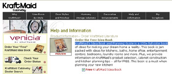 Free KraftMaid's Idea Book and Planning Guide is a 120+ full color book
