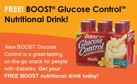 Free 6-Pack BOOST Glucose Control Nutritional Drink
