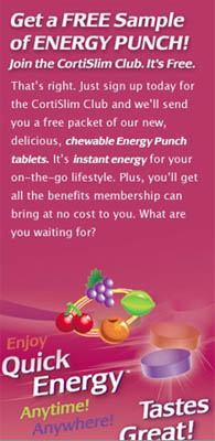 "Free Sample of CortiSlim ENERGY PUNCHâ""¢"