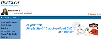 Free Simple Start Diabetes+Food DVD and Free OneTouch Ultra2 Meter