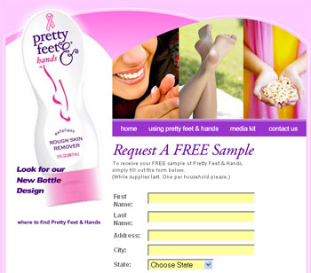 Free sample of Pretty Feet and Hands