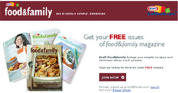 Free issue of Food and Family from Kraft
