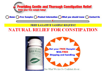 Free Laxative Sample request