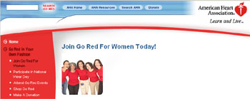 Free Red Dress Pin from Go Red For Women movement