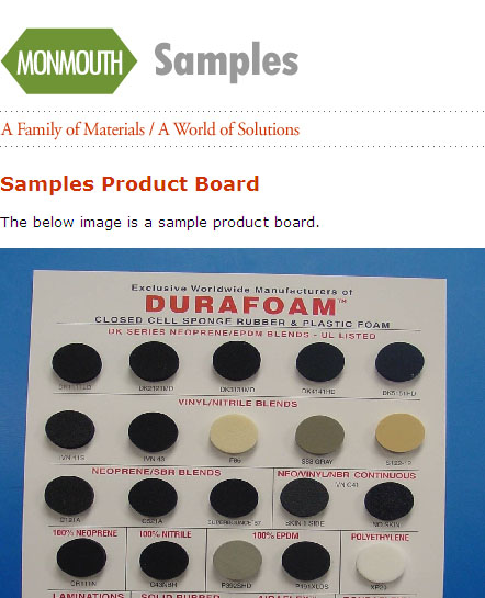 Free Recycled Foam Rubber and Rubber Gasket Samples