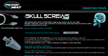 Free Skull Screws ear plugs kit