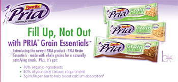 Free Sample of PRIA Grain Essentials Orchard Apple Cinnamon Crisp