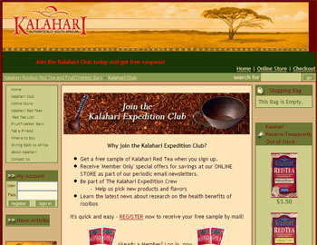 Free Kalahari Red Tea Sample