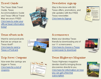 Free Travel Texas, map, travel guide, and much more