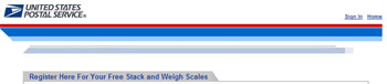 Free package weigh scale from USPS