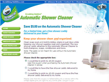 Free Shower Caddy for Scrubbing Bubbles Automatic Shower Cleaner