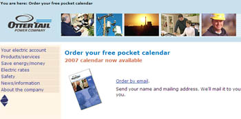 Free pocket calendar by email