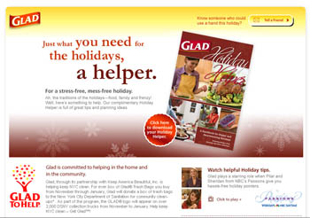 Free Holiday guidebook download from Glad