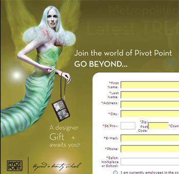 Free cosmetics bag from Pivot Point