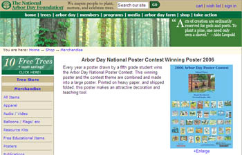 Free Arbor Day 2006 National Poster Contest Winning Poster