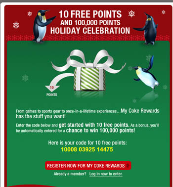 10 Free MyCokeReward points