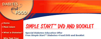 Free Simple Start Diabetes and Food DVD and Booklet