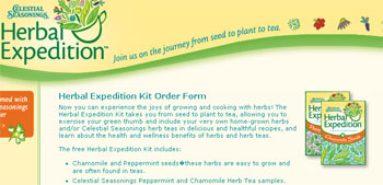 Free Herbal Expedition Kit - growing and cooking with herbs