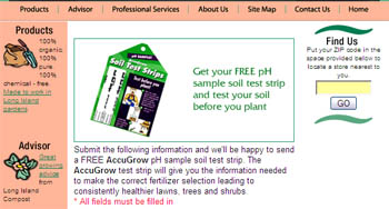 Free AccuGrow pH soil test strip samples