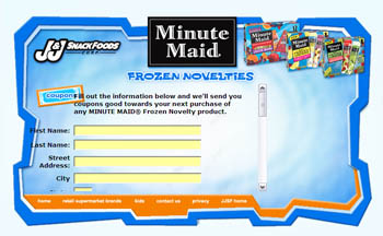Free Minute Maid Frozen Novelty product