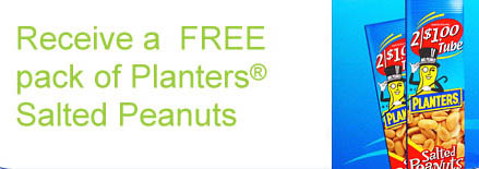 Free Pack of Planter's Salted Peanuts