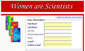 "Free ""Women are Scientists� posters & videos"